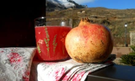 Zumo exprimido de granada, pomelo y naranja: cóctel de antioxidantes