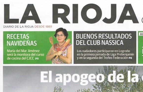 «¡Varias mujeres cocinando en armonía y bien organizadas podemos elaborar el menú de una boda!» Entrevista en el periódico La Rioja