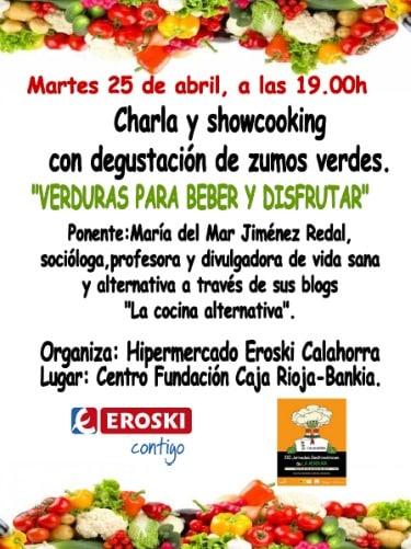 Verduras para beber y disfrutar: charla y degustación en Calahorra