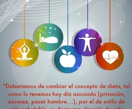 Menos dietas y más cuidarse y estilo de vida saludable