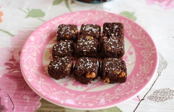 Receta de brownies de coco y cacao