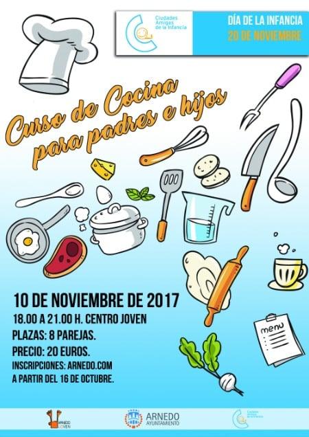 Crónica del curso de cocina para padres e hijos en Arnedo (La Rioja). Noviembre 2017