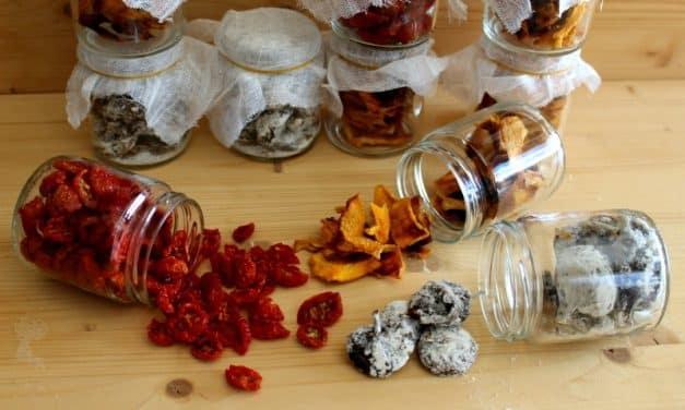 Deshidratando el otoño: higos, tomatitos y melocotones