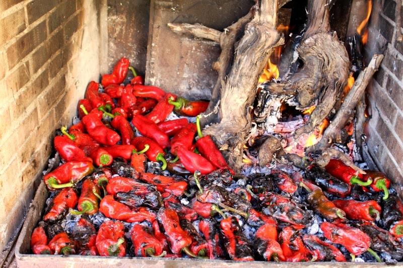 Cómo asar pimientos al fuego paso a paso