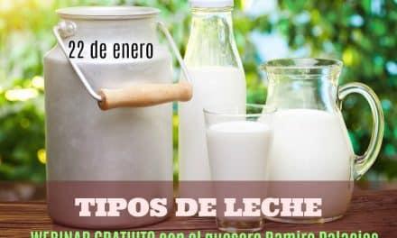 TIPOS DE LECHE: conferencia online gratuita con el quesero Ramiro Palacios