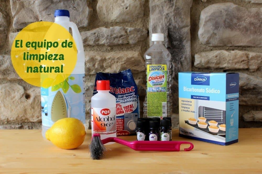 El equipo de limpieza natural