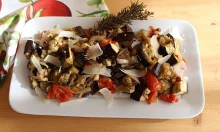 Berenjenas al horno con cherrys, pasas y anacardos
