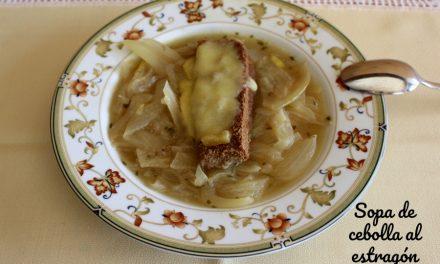 Receta de sopa de cebolla gratinada al estragón
