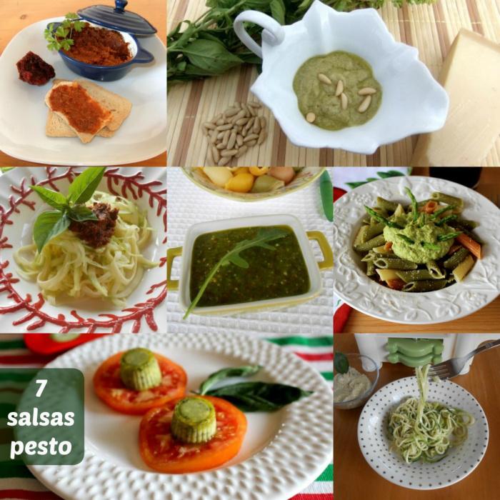 7 salsas de pesto