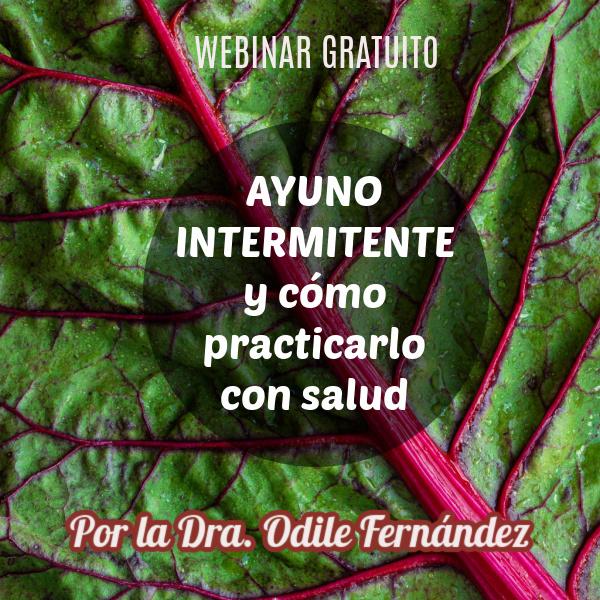 Ayuno intermitente saludable: webinar gratuito