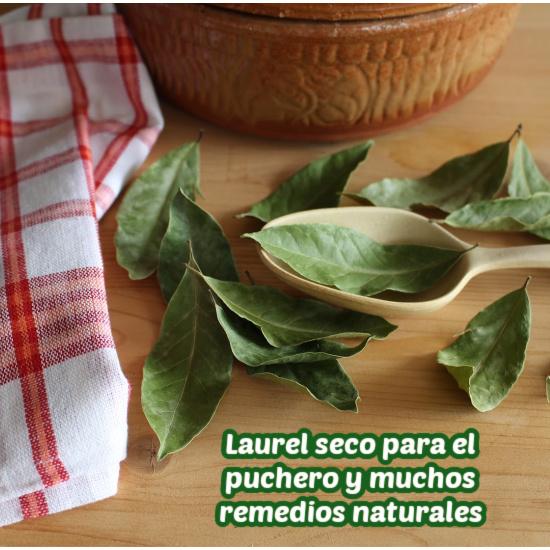 hojas de laurel seco para cocinar y remedios caseros
