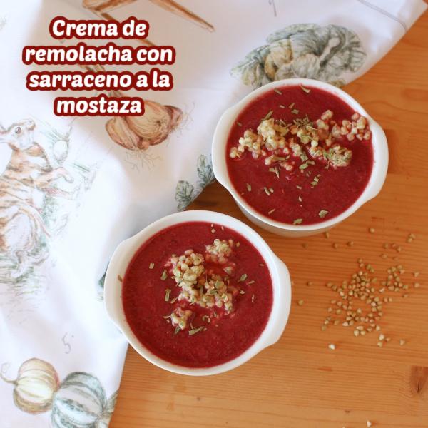 Receta de crema de remolacha con sarraceno a la mostaza